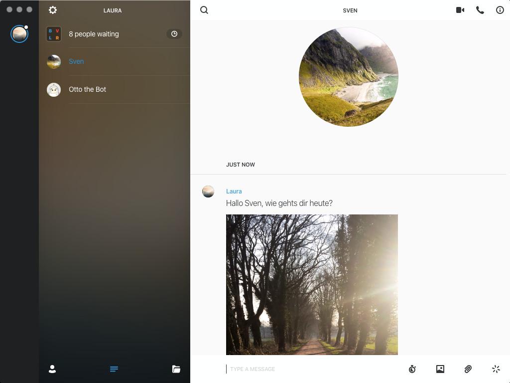 Screenshot 1 - Wire (Mac)