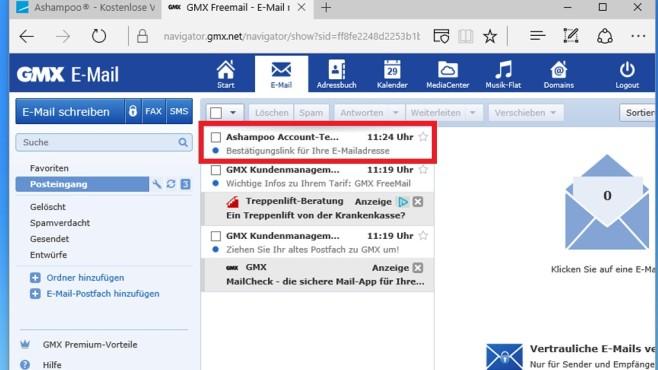 Digitales Postfach kontrollieren ©COMPUTER BILD