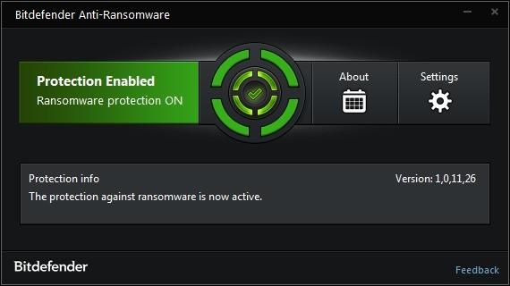 Screenshot 1 - Bitdefender Anti-Ransomware