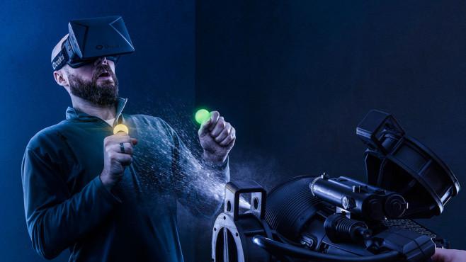 VR Sensorik Immersions-Generator ©Think Geek