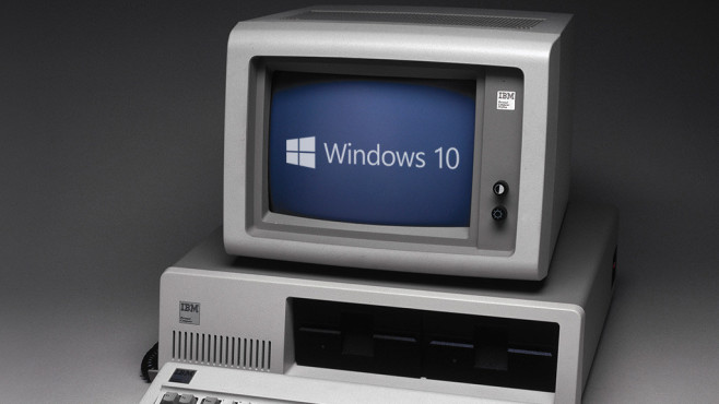 Upgrade via GWX-Fenster anstoßen ©Microsoft, Science & Society Picture Library / Getty Images