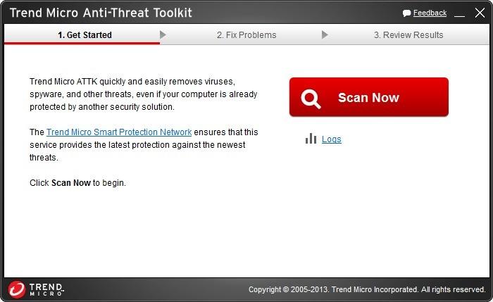 Screenshot 1 - Trend Micro Threat Cleaner
