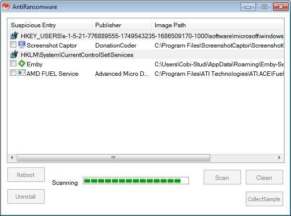 Screenshot 1 - Trend Micro Anti-Ransomware Tool