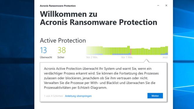 Acronis Ransomware Protection: Echtzeit-Schutz ©COMPUTER BILD
