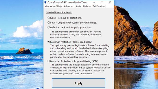 CryptoPrevent: System härten ©COMPUTER BILD