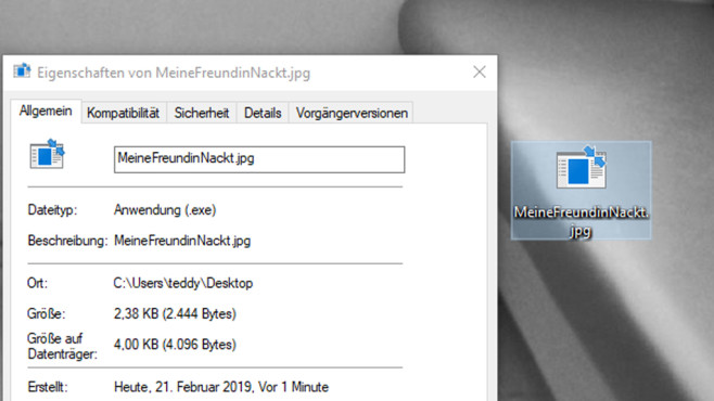 Dateiendungen anzeigen ©COMPUTER BILD