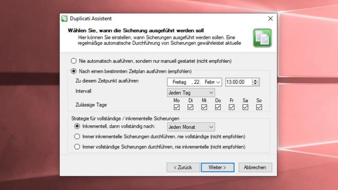 Duplicati: Lokal oder entfernt Daten sichern ©COMPUTER BILD