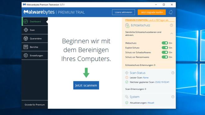 Malwarebytes: Echtzeit-Schutz ©COMPUTER BILD