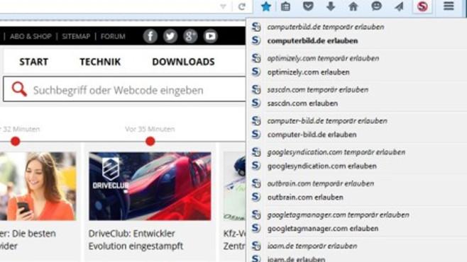 NoScript, ScriptSafe: Böse Webseiten-Inhalte aussperren ©COMPUTER BILD