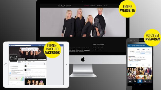 Der perfekter Auftritt im Netz©COMPUTER BILD, Apple, Honor, Facebook, Instagram, Pamela Maria