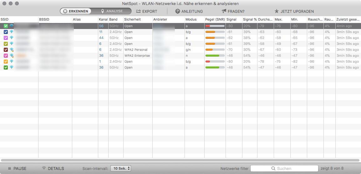 Screenshot 1 - NetSpot (Mac)