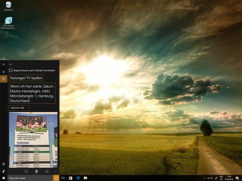 Cortana: Erinnerungen mit Fotos ©COMPUTER BILD
