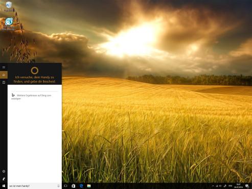 Mit Cortana das Telefon suchen ©COMPUTER BILD