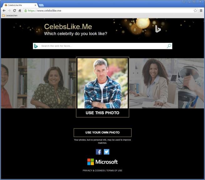 Screenshot 1 - Microsoft CelebsLike.Me