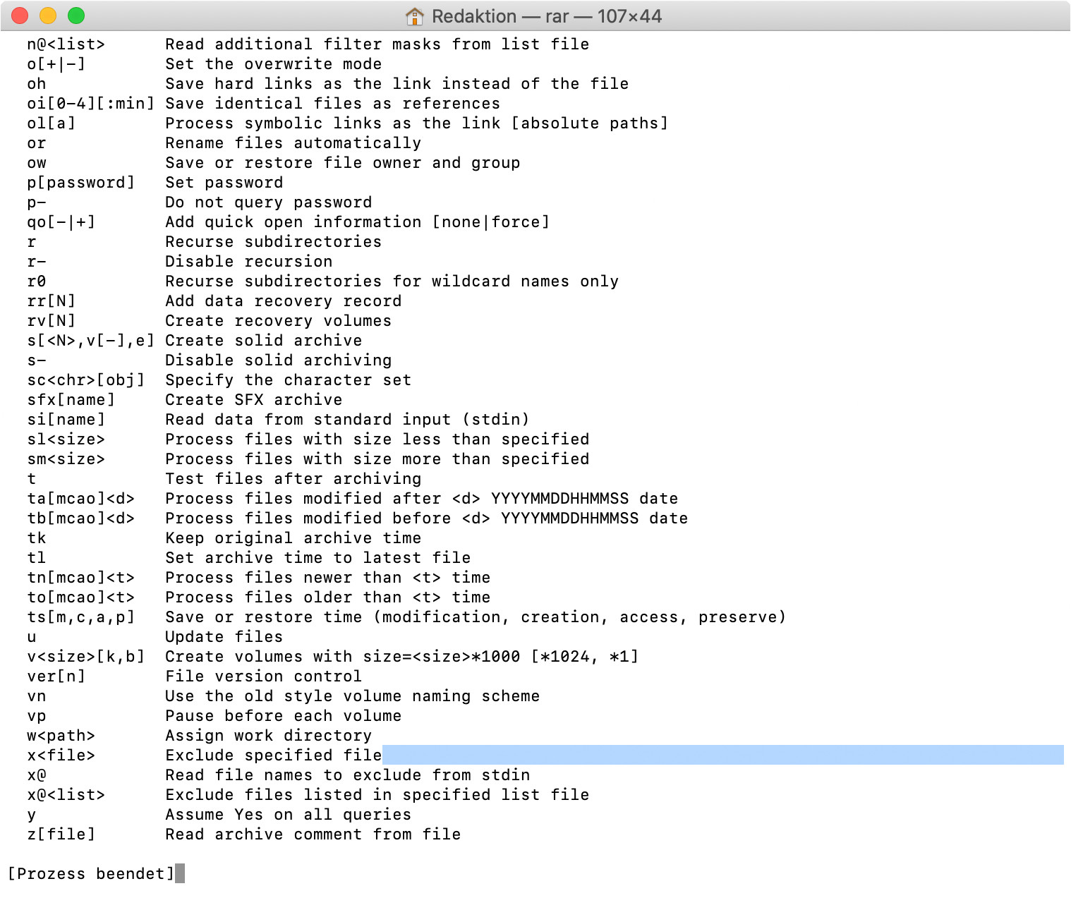 Screenshot 1 - RAR (Mac)