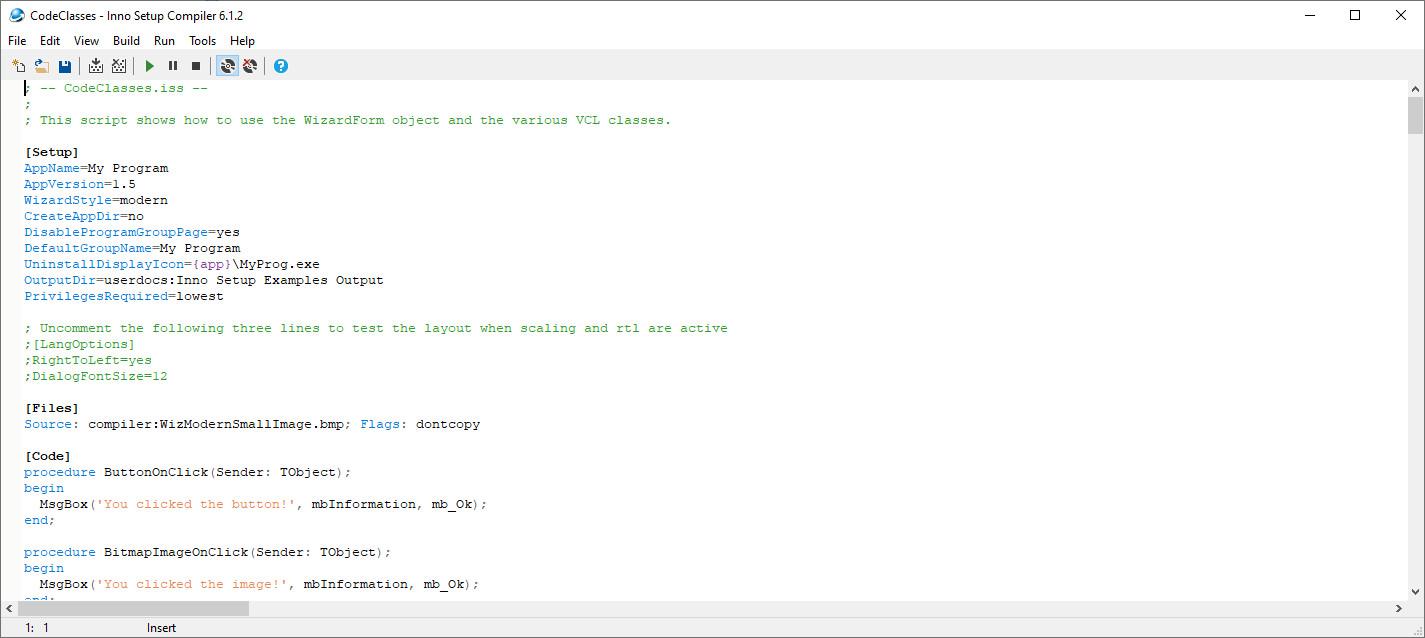 Screenshot 1 - Inno Setup