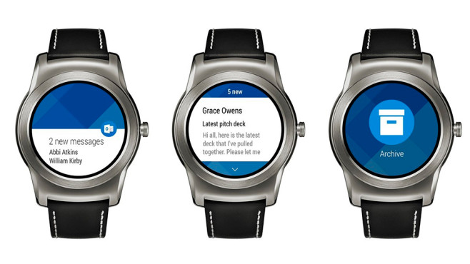 Outlook Android Wear©Microsoft
