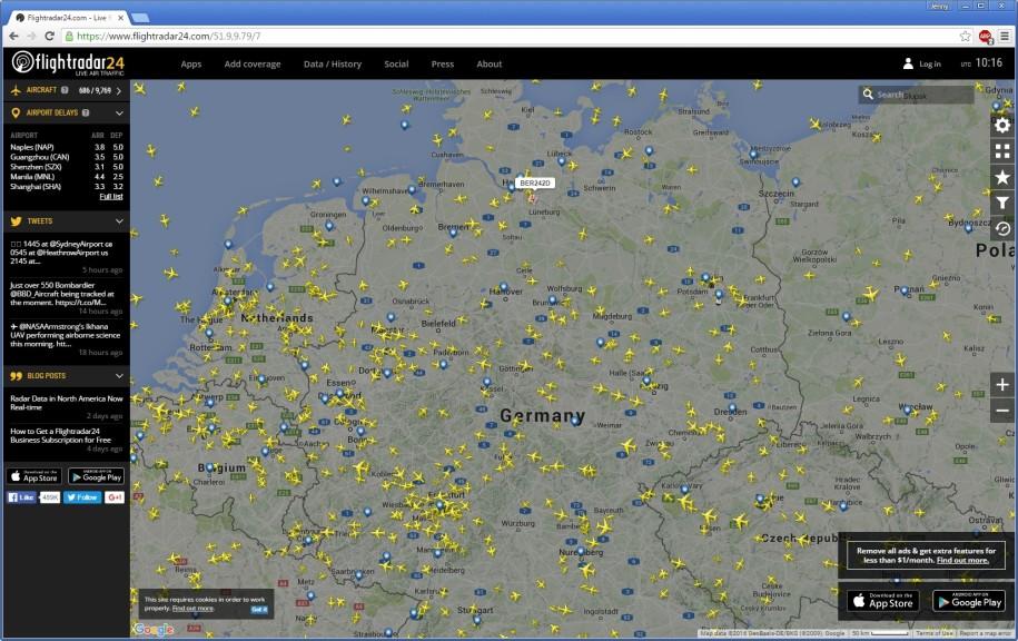 Screenshot 1 - Flightradar24