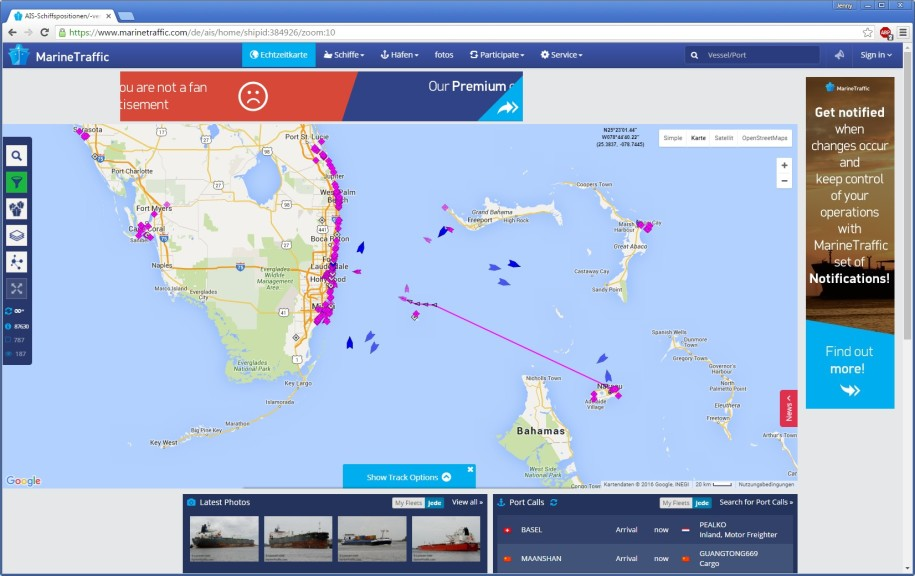 Screenshot 1 - MarineTraffic