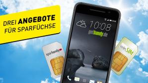 3 Tiefpreis-Tarife für alle: Smartphone, LTE oder EU-Roaming inklusive©magann – Fotolia.com, HTC, Sparhandy, Gethandy.de