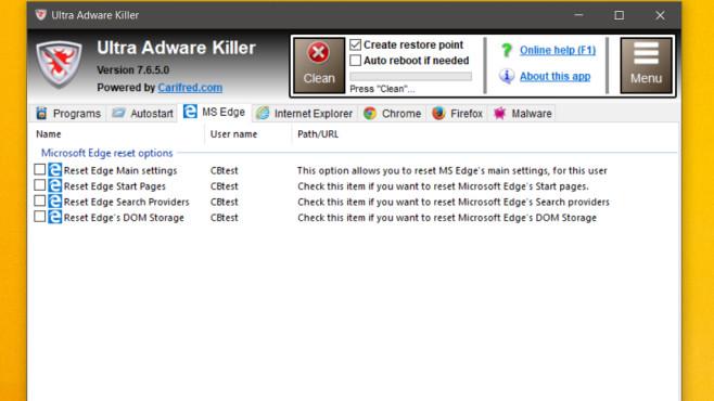 Ultra Adware Killer ©COMPUTER BILD