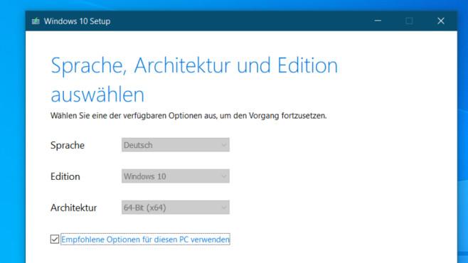 Windows 10 Media Creation Tool ©COMPUTER BILD