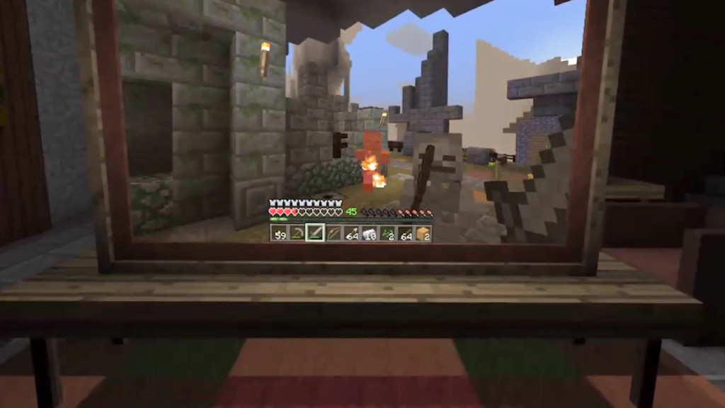 Minecraft Für Gear VR Das Habe Ich Gebaut COMPUTER BILD SPIELE - Minecraft spiele schieben