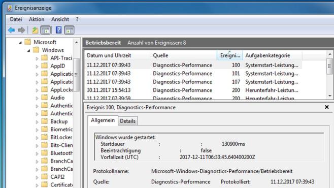 Windows 7/8/10: Benötigte Zeit fürs Hochfahren ermitteln©COMPUTER BILD