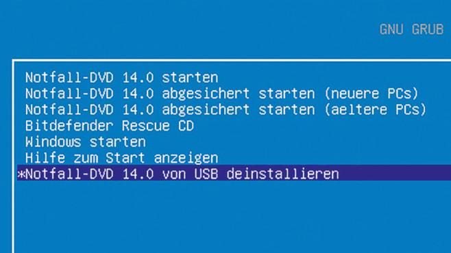 Verbessertes UEFI-Startmenü ©COMPUTER BILD