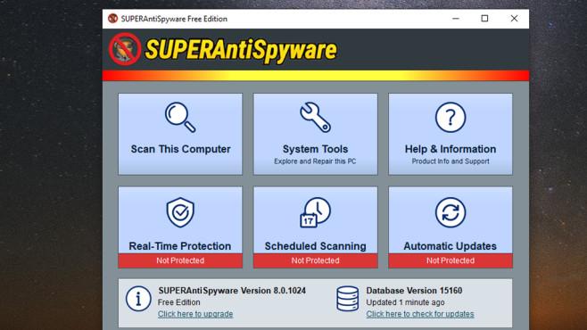 Malware entfernen und Schäden reparieren: SuperAntiSpyware Free Edition ©COMPUTER BILD