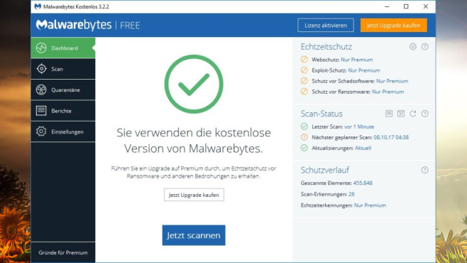 Virenscanner unterstützen: Malwarebytes ©COMPUTER BILD