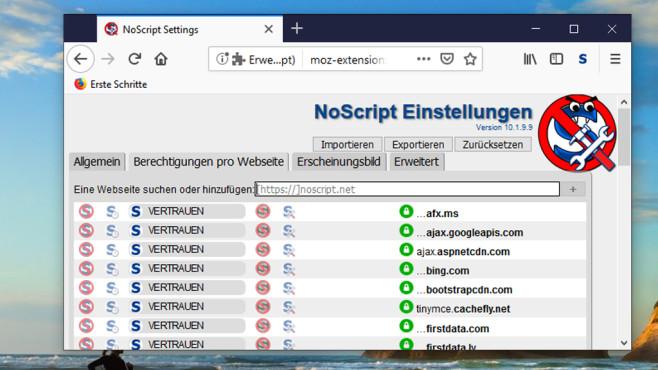 Webseiten-Inhalte blocken: NoScript ©COMPUTER BILD