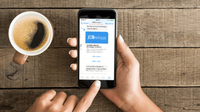 JobMeHappy Job Bot Pressefoto©JobMeHappy