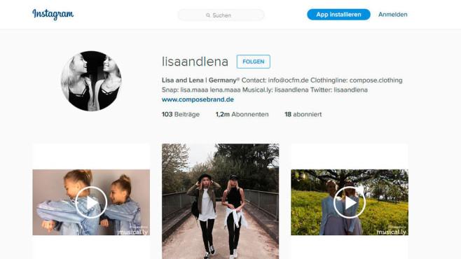 Instagram-Account von Lisa und Lena©lisaandlena/Instagram
