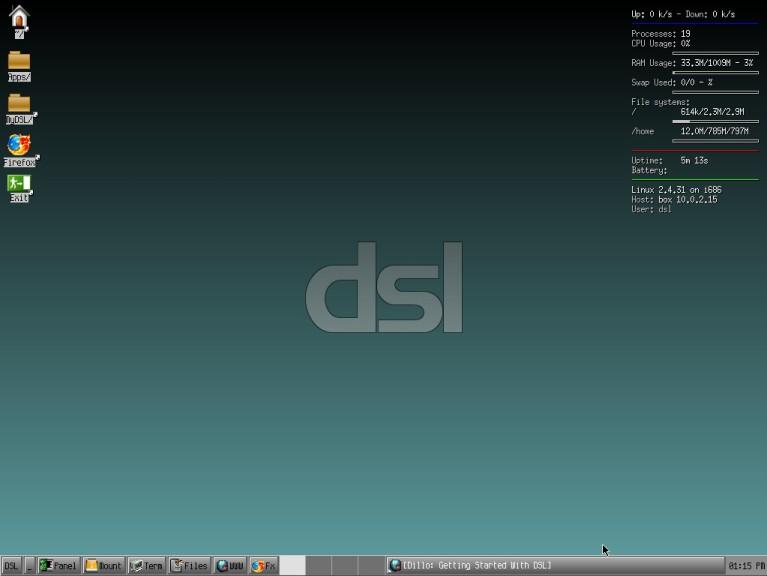 Screenshot 1 - Damn Small Linux