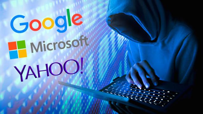 Hunderte Millionen E-Mail-Konten sind gefährdet.©Google, Microsoft, Yahoo, Bill Hinton/gettyimages