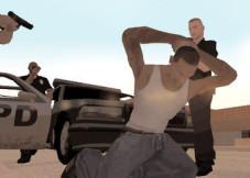 Grand Theft Auto – San Andreas: Bei seiner Ankunft in Los Santos wird Carl Johnson von korrupten Cops abgefangen. Er soll für sie ein paar Aufträge erledigen.