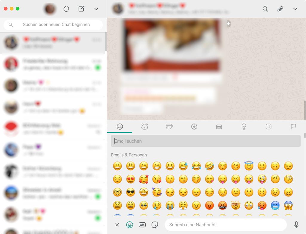 Screenshot 1 - WhatsApp (Desktop-App) (Mac)
