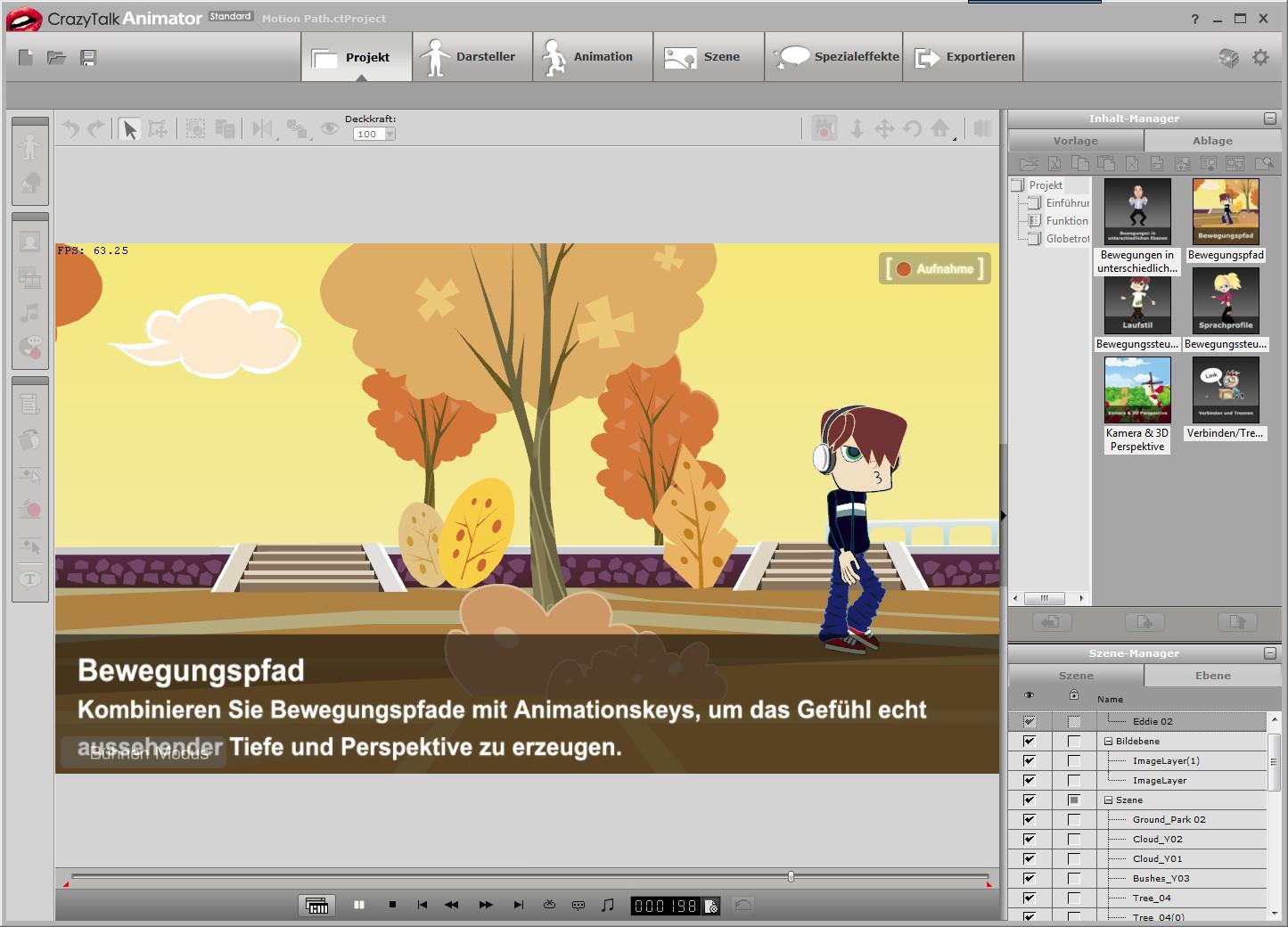Screenshot 1 - CrazyTalk Animator – Kostenlose Vollversion