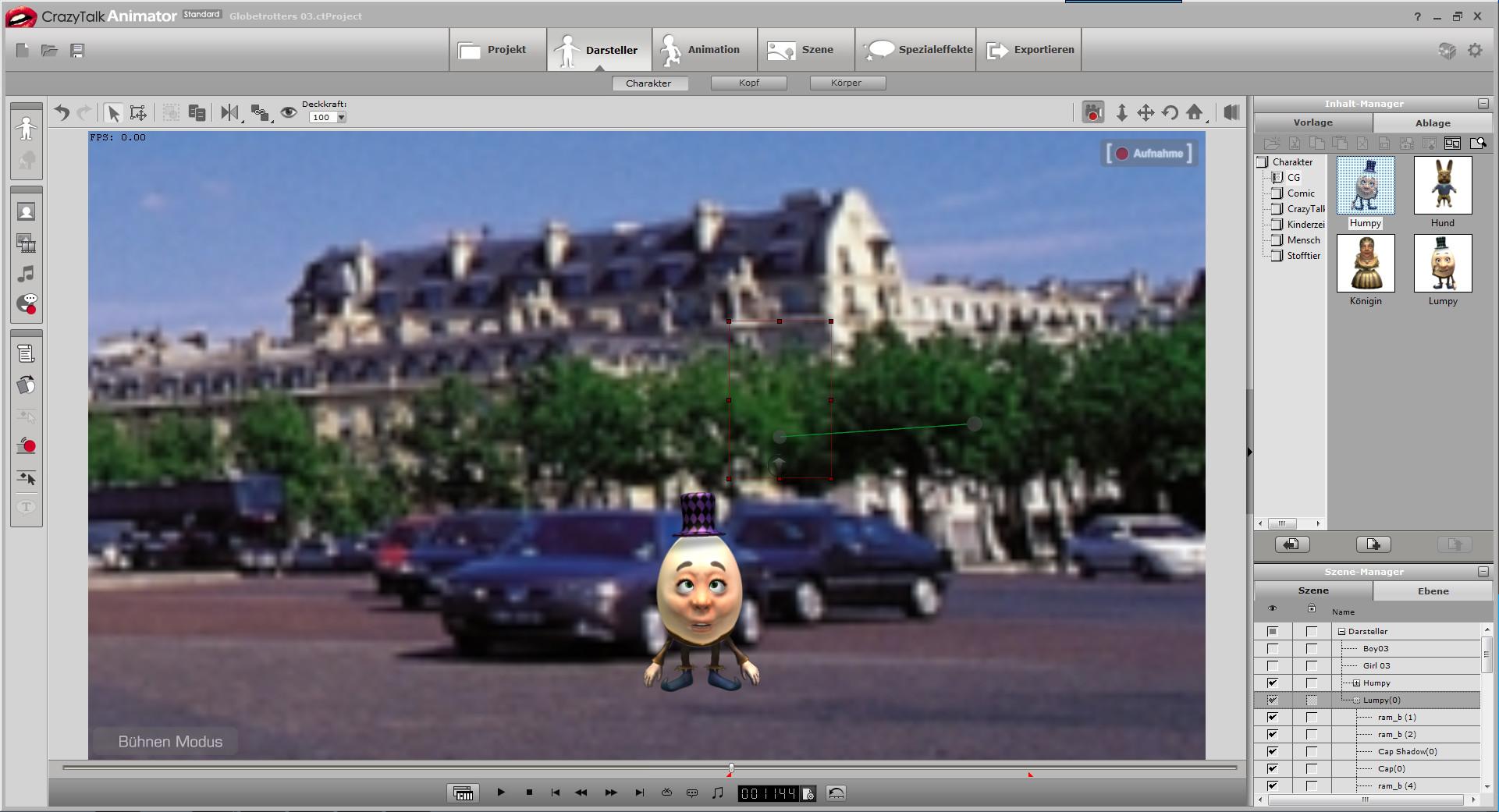 Screenshot 1 - CrazyTalk Animator: BonusPack mit Darstellern und Projekten