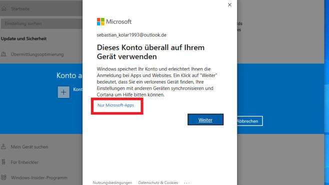 Nur Microsoft-Apps ©COMPUTER BILD