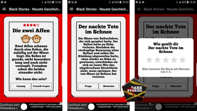 Dark Stories - Black Quiz ©appsoluts