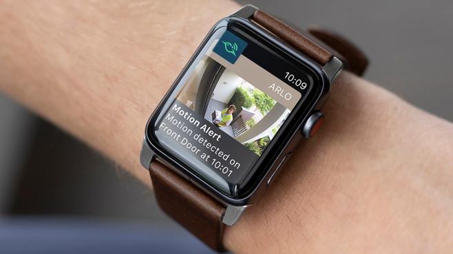 Arlo Ultra auf Apple Watch©Arlo, Apple
