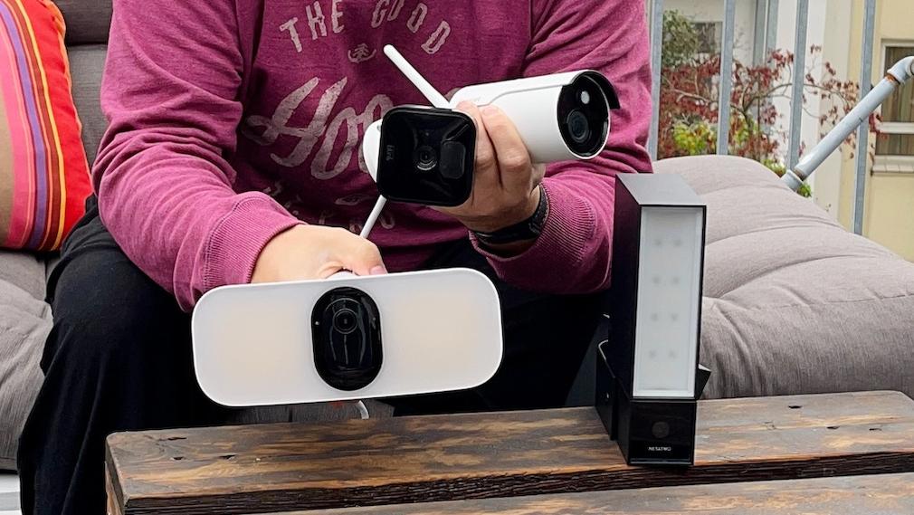 Outdoor-Cams mit Flutlicht und Sirene