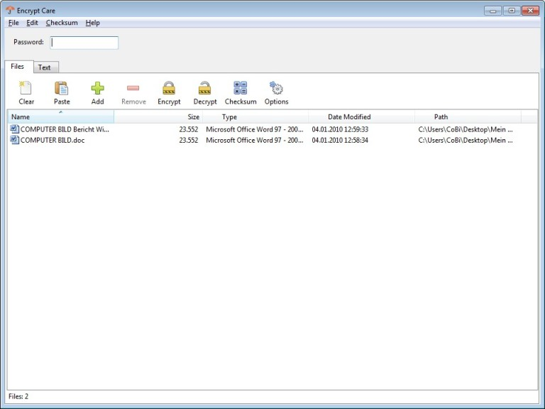 Screenshot 1 - Encrypt Care