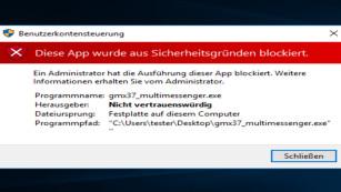 """""""Diese App wurde aus Sicherheitsgründen blockiert""""©COMPUTER BILD"""