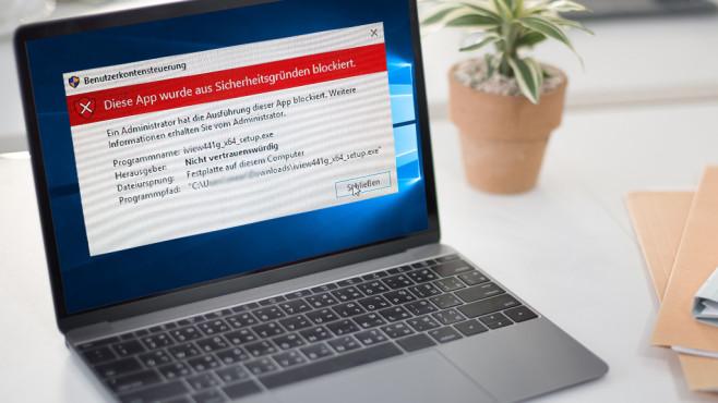 """""""Diese App wurde aus Sicherheitsgründen blockiert""""©Microsoft, Rawpixel.com-Fotoli.aom"""