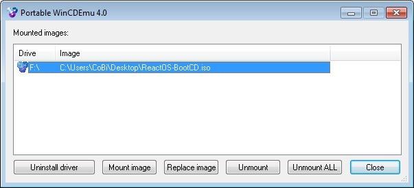 Screenshot 1 - WinCDEmu Portable