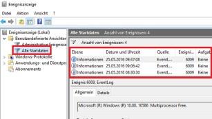 Windows 7/8/10: Nachschauen, wann der PC gestartet wurde©COMPUTER BILD