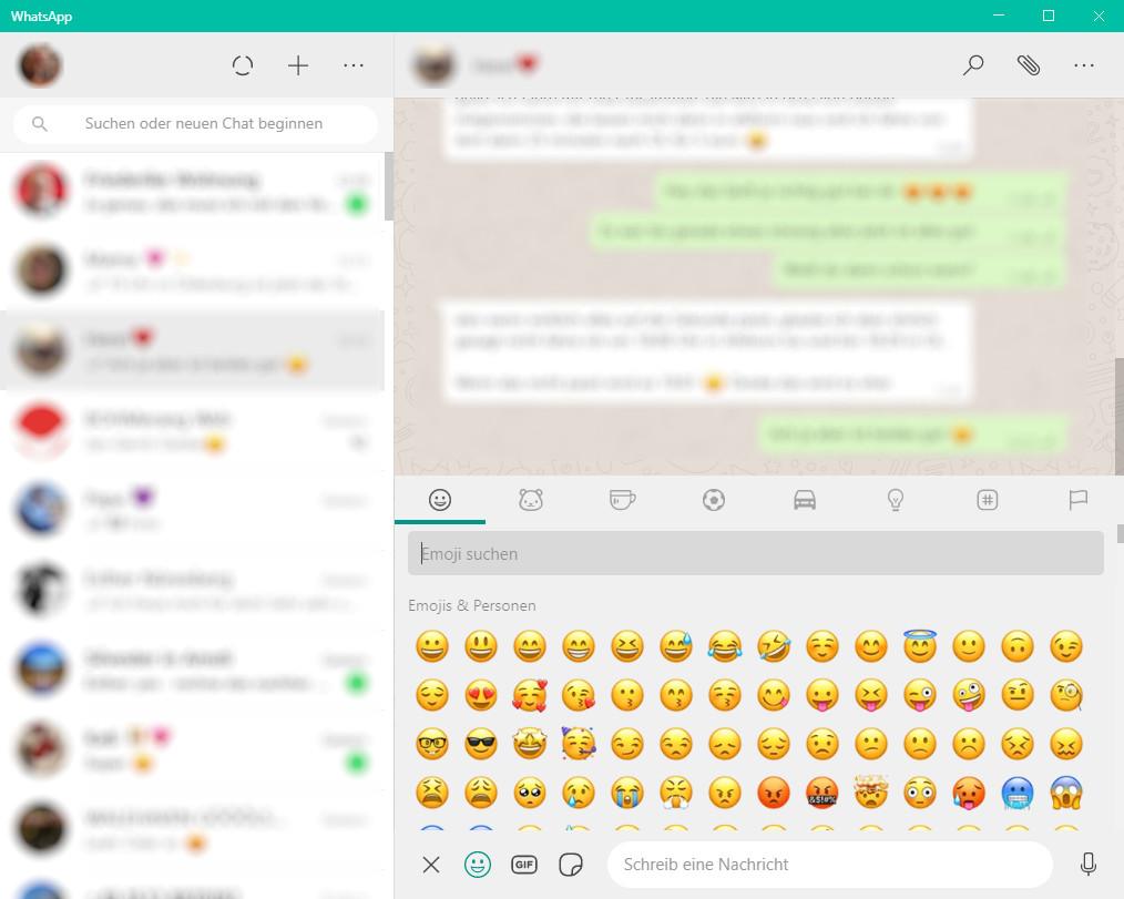 Screenshot 1 - WhatsApp für PC (64-Bit-Desktop-App)